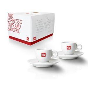 Illy 2 espresso kop en schotels
