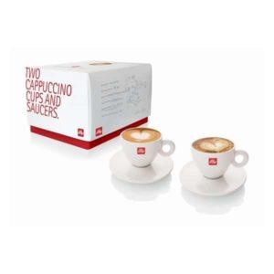 Illy 2 cappuccino kop en schotels